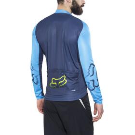 Fox Ascent Miehet Pyöräilypaita pitkähihainen , sininen